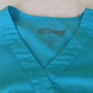 Grey's Anatomy Scrubs Top M Blue Uniform Med